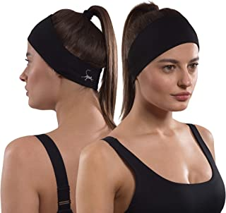 Sports Headbands for Men & Women: Moisture Wicking Guys Sweatband for Exercise, Running, Crossfit, Yoga & Working Out or Under Helmet