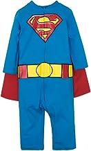 Warner Bros. Batman & Superman Baby Boys' Costume Coveralls with Cape Set