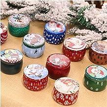 Candles Creative Tinplate Tint Christmas Smokeless Candle Christmas Day Atmosphere Candle Christmas Table Decor