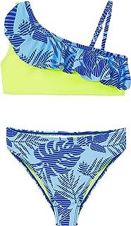 Conjunto de Bikini de Dos Piezas para niñas, Traje de baño con Volantes de Flamenco, Traje de baño Deportivo de Verano par...