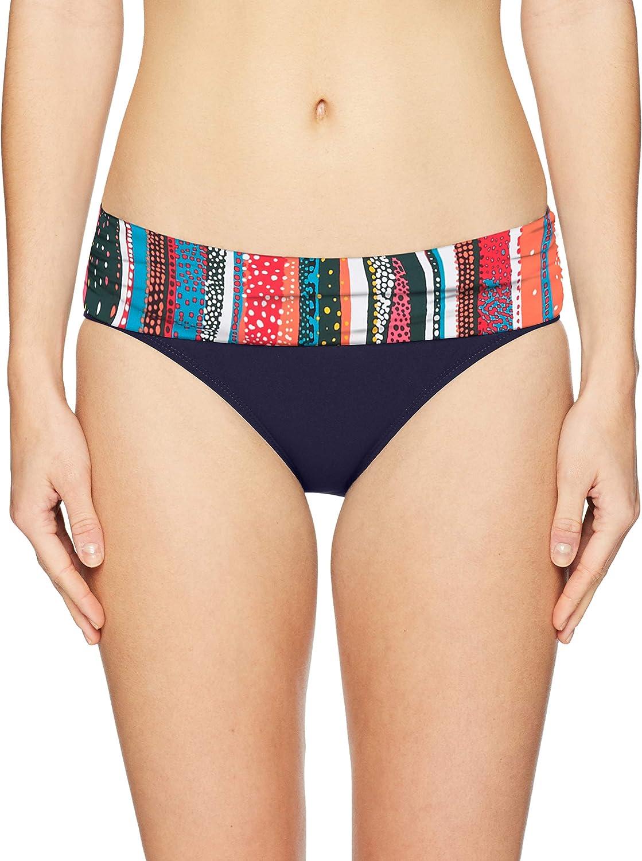Anne Cole Women's Fold Over Mid-Rise Bikini Bottom Swimsuit