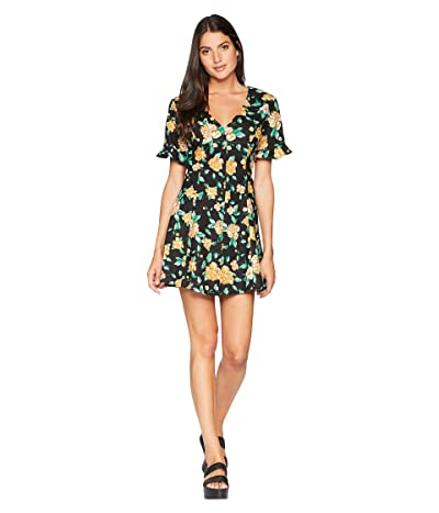 ASTR the Label Morgan Dress (Black/Marigold Floral) Women
