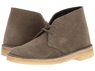 Clarks Desert Boot (Olive Suede) Women