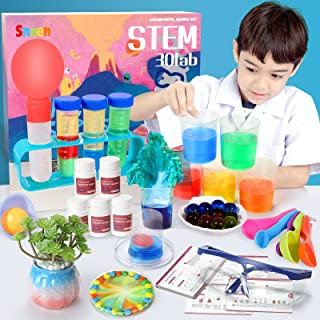 کیت علمی SNAEN با 30 آزمایش آزمایشگاهی ، اسباب بازی های آموزشی DIY STEM برای کودکان 3 4 ساله ، کشف در یادگیری ، بسته بندی بطری