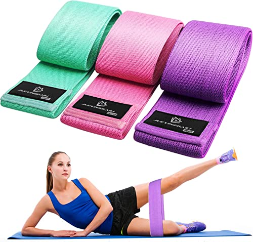 Exercise Resistance Bands for Legs and Butt, Anti-Slip & Roll Workout Booty Bands for Women Squat Glute Hip Training,...