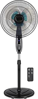 Best Choice Products 16in Adjustable Oscillating Standing Pedestal Fan w/ 7.5 Hour Timer, Double Blades, Remote Control, 3 Fan Modes, Front/Back Tilt, Black