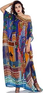 Silk kaftan Heavily Embellished Maxi Dress Beach Cover Up Caftan Long Dress Resort wear Plus Womans Kaftan 172