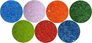 10-Pack by Stallings Stained Glass Pre-Cut Fusible 1-inch Square Bullseye Glass Assorted Glass Colors 3mm Sampler Pack Fuse It 90 Coe