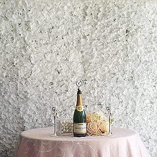 Efavormart 4 PCS White Silk Hydrangea Flower Mat Wall Wedding Event Decor for DIY Centerpieces Arrangements Party Decorations