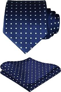 Men's Tie Handkerchief Jacquard Woven Classic Necktie & Pocket Square Set