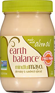 Earth Balance Mindful Mayo Dressing & Sandwich Spread, Made with Olive Oil, Vegan, Non-GMO Project Verified,16 Ounce