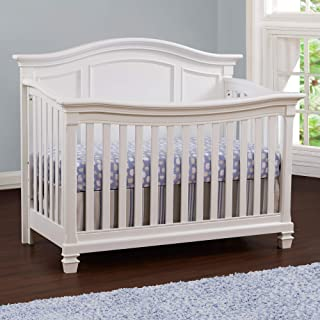 Baby Cache Glendale 4 in 1 Convertible Crib, Pure White