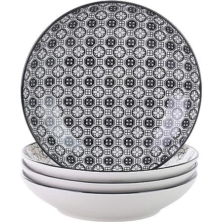 vancasso, série Haruka, Assiette Creuse,4 pièces, en Porcelaine, Style Japonais