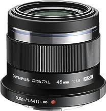 Objetivo Olympus M.Zuiko Digital 45mm F1.8, longitud focal fija rápida, apto para todas las cámaras MFT (modelos Olympus OM-D & PEN, serie G de Panasonic), negro