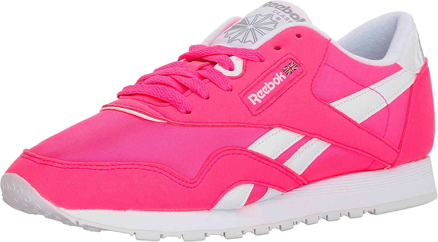 Reebok Womens Cl Nylon Brights Sneaker