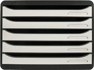 Exacompta - Réf. 3087213D - BIG-BOX PLUS HORIZON - Caisson 5 tiroirs pour documents A4+ - Dimensions extérieures : Profond...