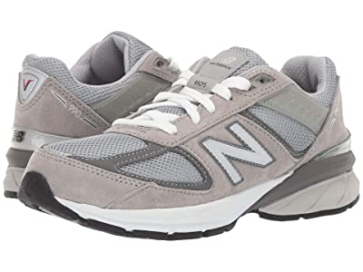 New Balance Kids 990v5 Launch (Big Kid) (Grey) Kids Shoes