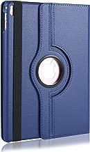iPad Pro 9.7 Case (Navy Blue), Sumaclife Heavy Duty PU Leather Flip Tablet Case with 360 Degree Swivel Mount for Apple iPad Pro 9.7