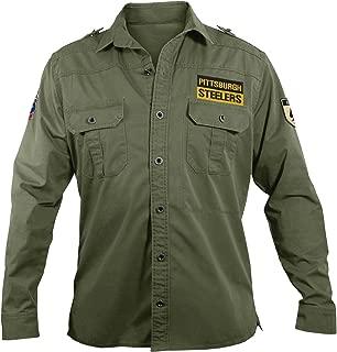 NFL Pittsburgh Steelers Men's Military Field Shirt, Medium