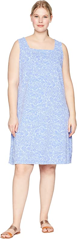 Extra Fresh by Fresh Produce - Plus Size Waves Square Neck Dress
