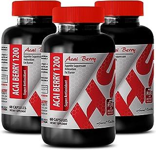 Immune Support Sugar Free - ACAI Berry 1200 MG - Super ANTIOXIDANT - acai Roots Pure acai - 3 Bottles (180 Capsules)