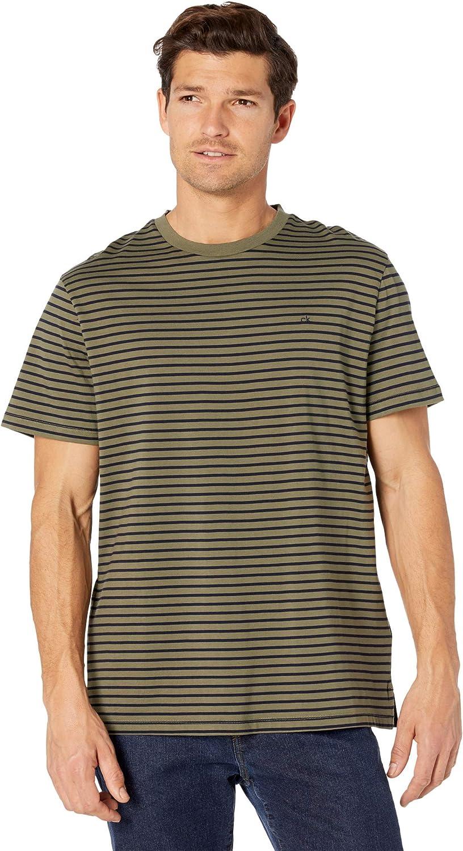 Calvin Klein Men's Short Sleeve Jersey Ranking TOP10 T-Shirt Nashville-Davidson Mall Crew Liquid Neck