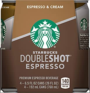 Starbucks Doubleshot, 4-Pack, 6.5 oz Cans