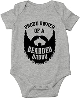 AW Fashions Proud Owner of A Bearded Daddy Funny Beard Dad Cute One-Piece Infant Baby Bodysuit