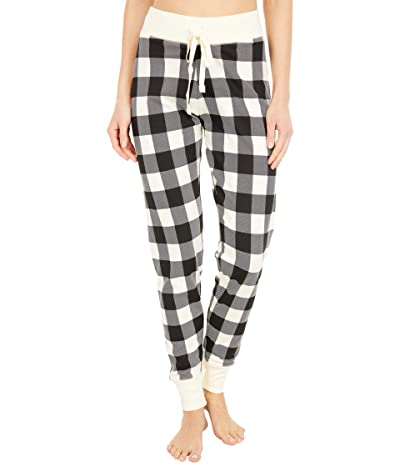 Little Blue House by Hatley Cream Plaid Sleep Leggings Women