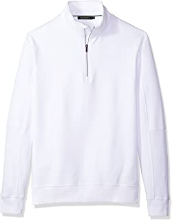 Men's Long Sleeve Solid Half Zip Mock Pullover