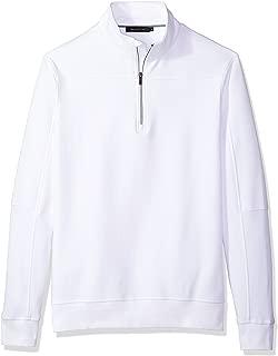 Men's Long Sleeve Solid Half Zip Mock Pullover