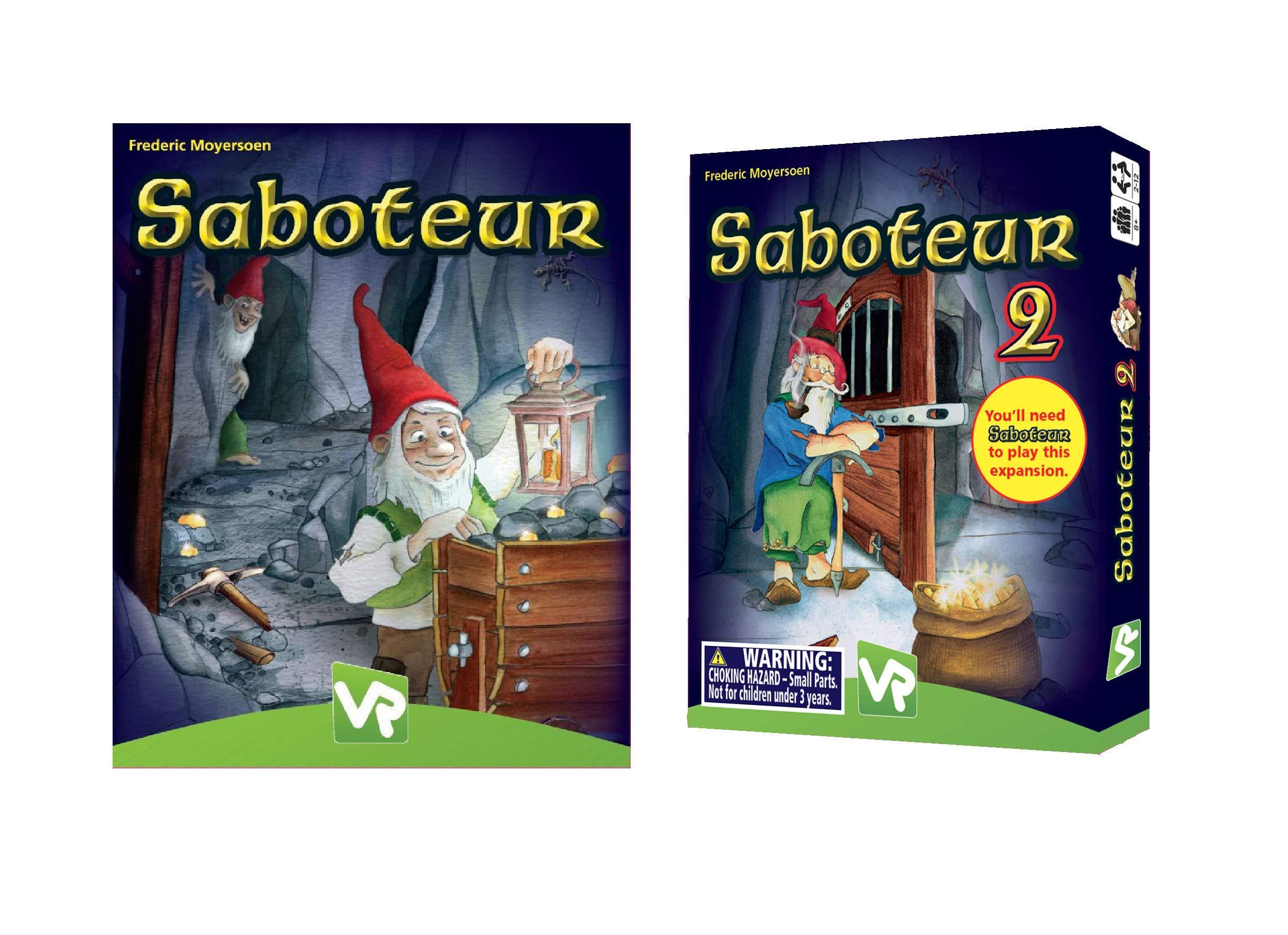 Amigo Games Saboteur and Saboteur 2 Expansion Pack Card Game Bundle