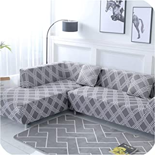 1 Piece/ 2 Pieces Geometric Pattern Sofa Cover for L Shaped Sectional Sofa Couch Cover Sofa Towel Cojines Decorativos para Sofa,Color 21,2-Seater 145-185Cm