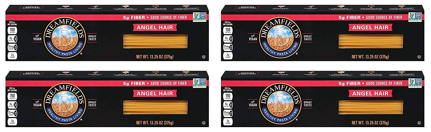 Dreamfields Healthy Pasta Living 13.25-Ounce Product Boxes Wholesale Angel Hair