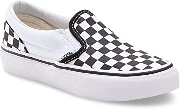 Vans Classic Slip-On Sneaker For Unisex,Black & White, 30 EU