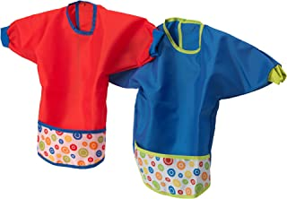 KLADD PRICKAR Bib, assorted sets of red and blue - pack of 2