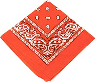 1s, 6s, 9s or 12 Pack Cowboy Bandanas with Original Paisley Pattern