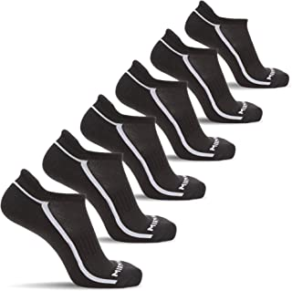 6 Pairs Running Low Cut Athletic Cushion Tab Breathable Comfortable Cotton Socks for Men and Women