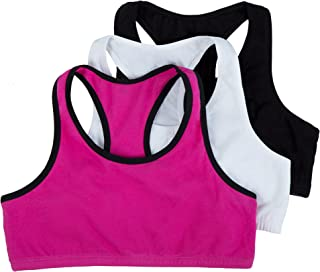 Fruit of the Loom Big Girls' Cotton Built-Up Stretch Sports Bra