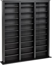 Prepac Triple Width Barrister Tower Storage Cabinet, Black