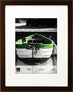 """kieragrace Langford Photo Frame – Wood, Espresso, 16"""" by 20"""" Matted for 11"""" by 14"""" Photo"""