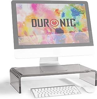 Duronic DM054 Elevador para Pantalla Ordenador Portátil Televisor - 50 x 20 cm- Metacrilato Negro Soporta hasta 30 kg