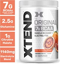 XTEND Original BCAA Powder Italian Blood Orange ice   Sugar Free Post Workout Muscle Recovery Drink with Amino Acids   7g BCAAs for Men & Women  30 Servings