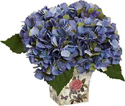 Hydrangea With Floral Planter 1373
