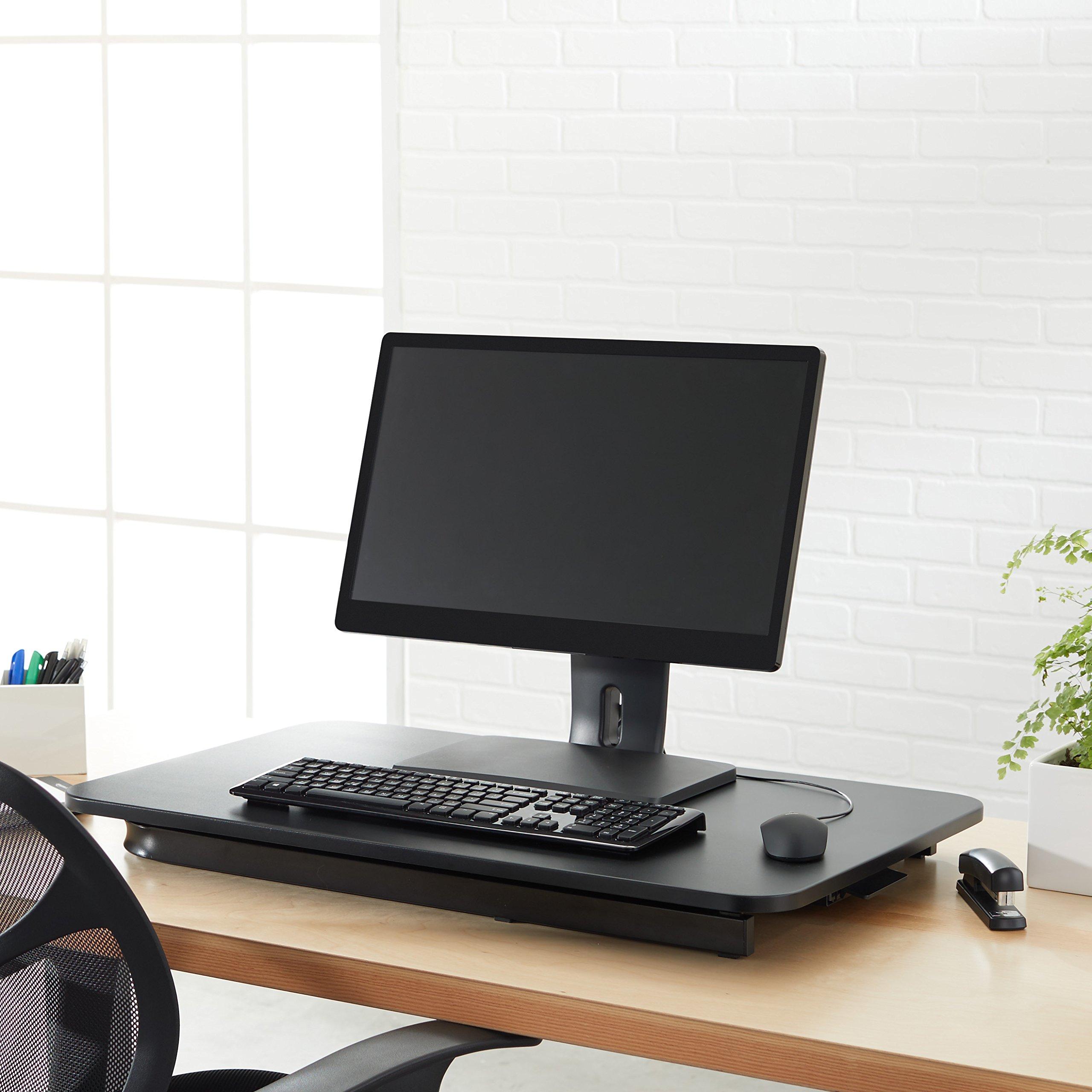 AmazonBasics - Convertidor de escritorio de pie, de altura ...