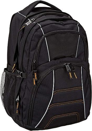Amazon Basics-Sac à dos pour ordinateur portable avec bretelles rembourrées et compartiments de rangement pour stylos...