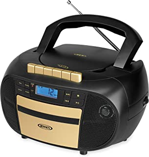 Jensen CD-550BG MP3 Top-Loading Boombox CD/MP3 Gold Series CD/MP3 AM/FM Radio Cassette Player, and Recorder Boombox Home A...