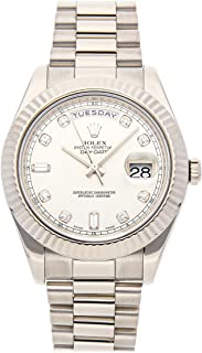 Rolex Day-Date II Mechanical (Automatic) Silver Dial Mens Watch 218239 (Certified Pre-Owned)