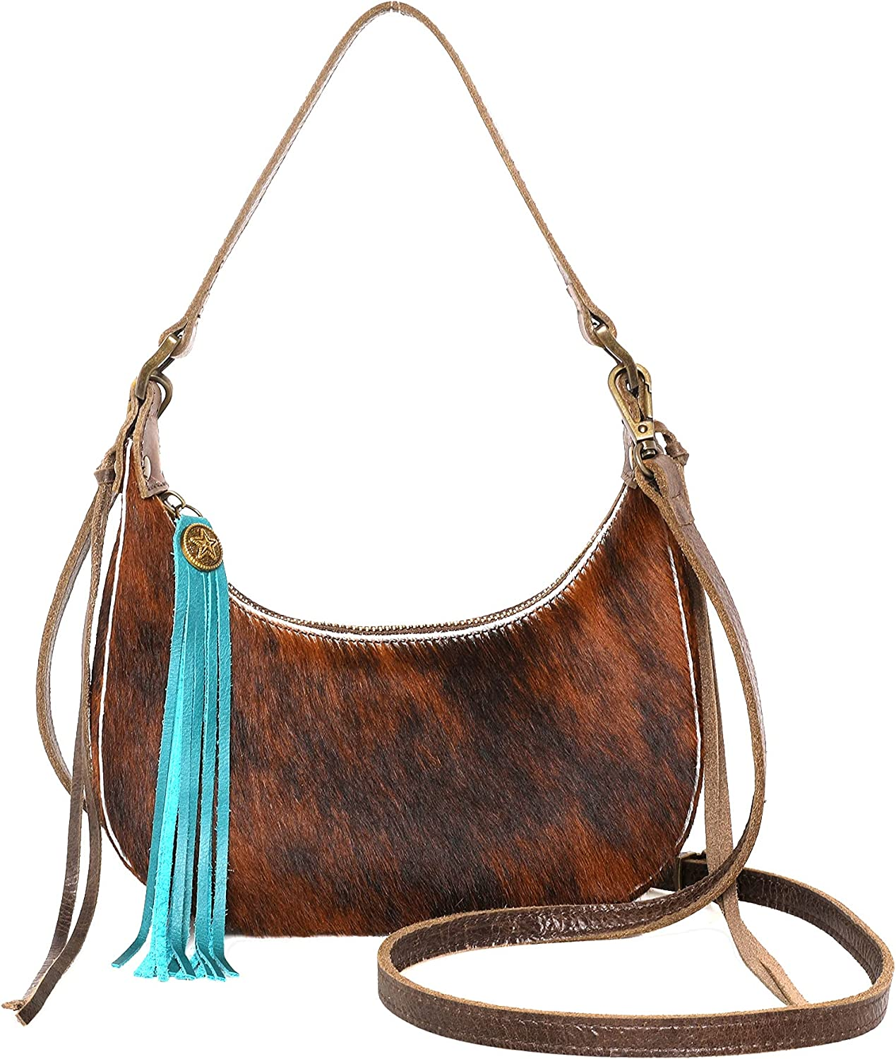 Women Free shipping on posting reviews Small Clutch Purse Western Cowhide Cowgir Hair Limited price sale Handbags