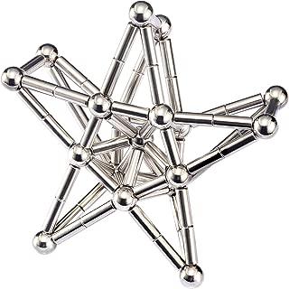 BANBBY 148pcs Magnet Building Blocks Construction Set Puzzle Stacking Game Sculpture Desk Toys (Silver)